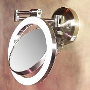 Zadro 10x Magnification Dimmable Makeup Wall Mirror